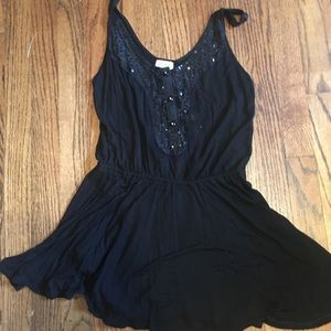 Free people sequin tunic dress/coverup